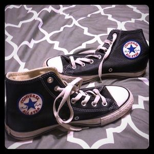 Awesome condition! Black leather Chucks!